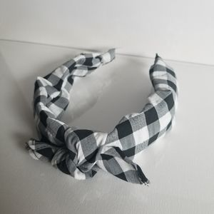 Claire's gingham knot headband